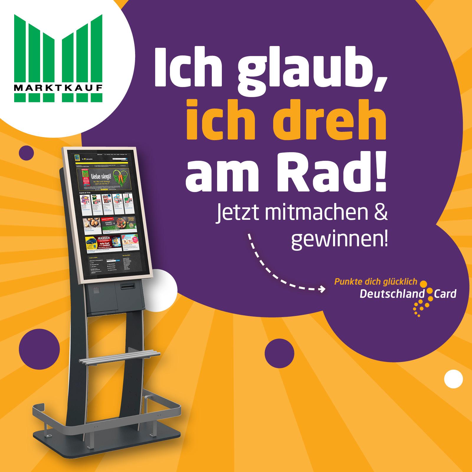 DeutschlandCard Glückrad in deinem Markt – punkte dich glücklich