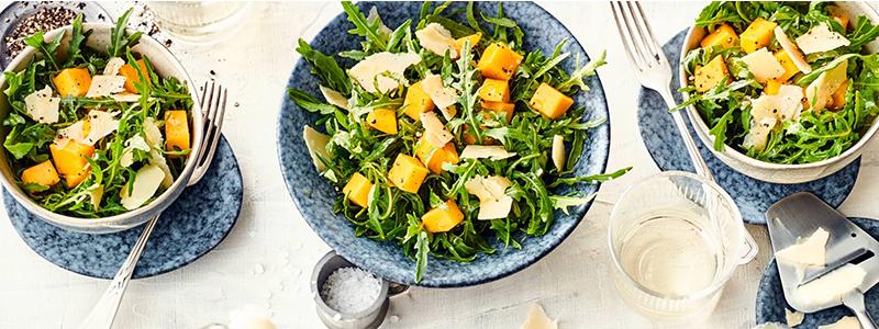 Herb trifft süß – Mango-Rucola-Salat